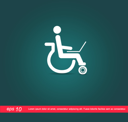 disabled work notebook icon Vector