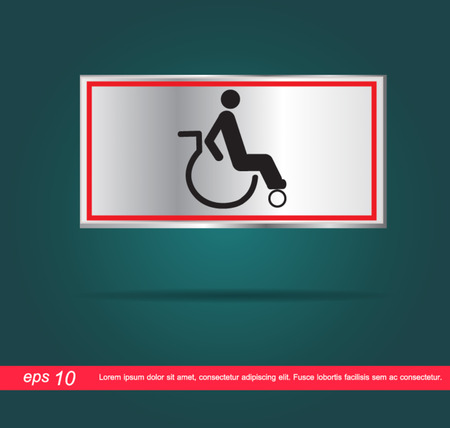 disabled icon vector Vector