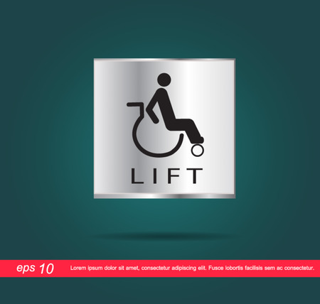 disabled lift icon vector Vector