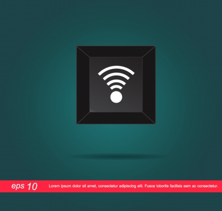 wifi sign: wifi sign in key vector Illustration