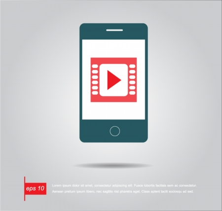 phone play movie Vector