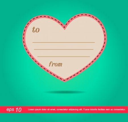 heart of letter vector icon Vector