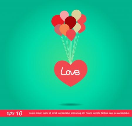 palloncino cuore: cuore balloon vector icon