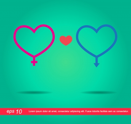 heart sex sign vector icon Vector