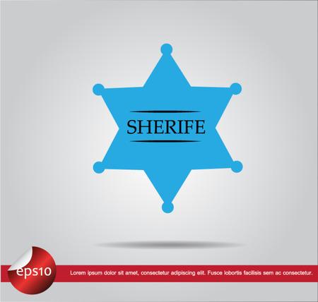 sherif: sign sherife vector icon Illustration