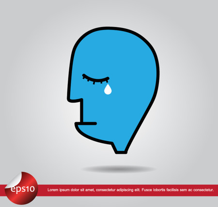human cry vector icon Vector
