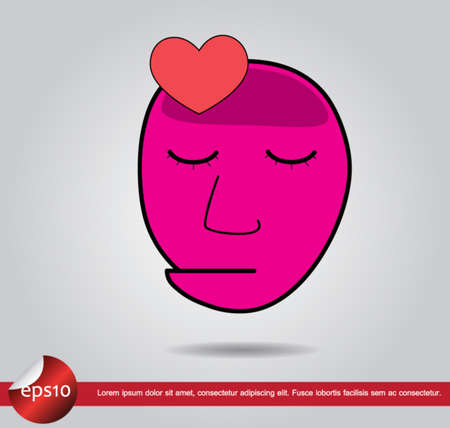 head human heart vector icon Vector