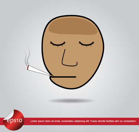 head human cigarett Vector