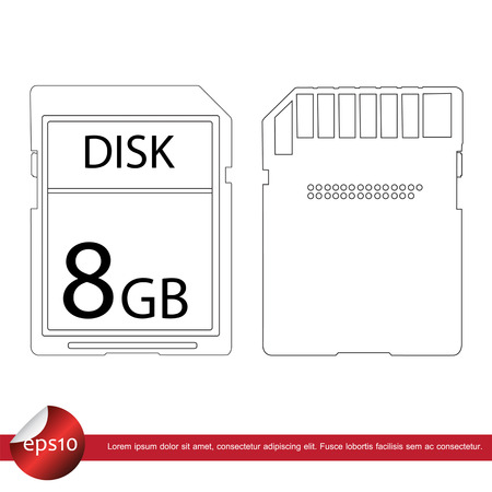 micro drive: sd card vector icon