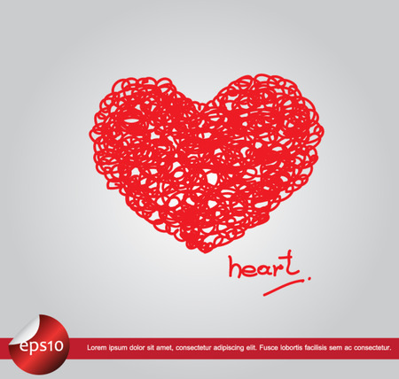 heart love writing vector icon Vector