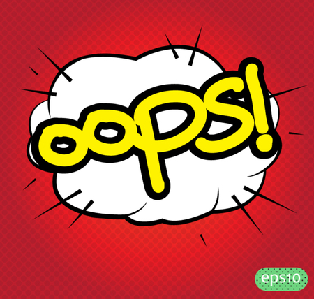 oops text comic Vector
