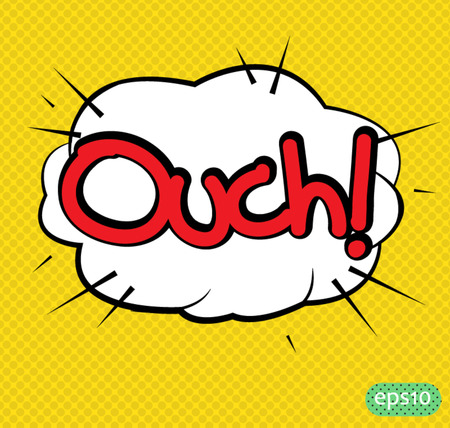 ouch: ouch text comic