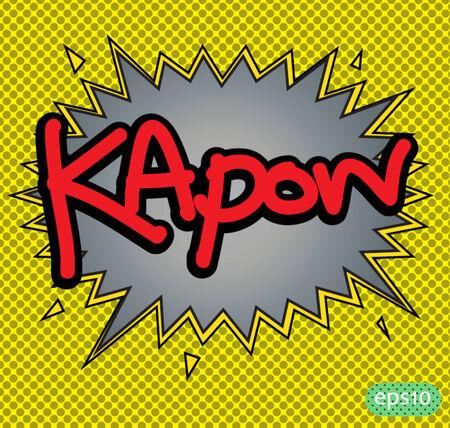 kapow: text comic kapow vector icon