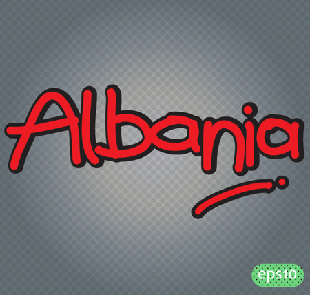 albanie: albanie texte vecteur ic�ne