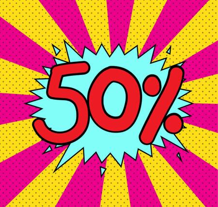 text comic discount vector icon Vector