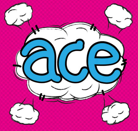 text comic ace Vector