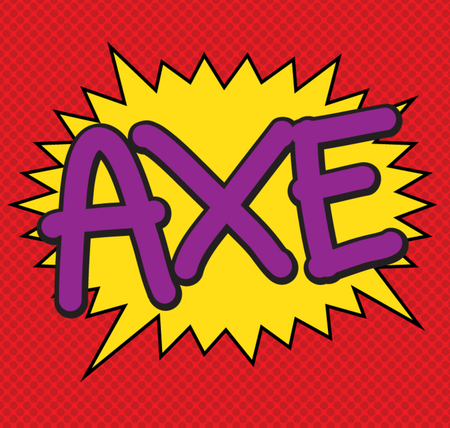 text comic axe vector icon Vector
