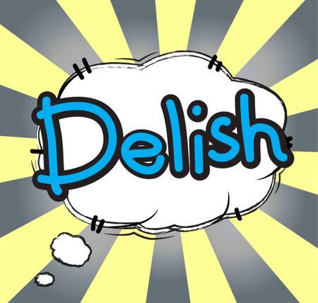 text  comic delish Illustration