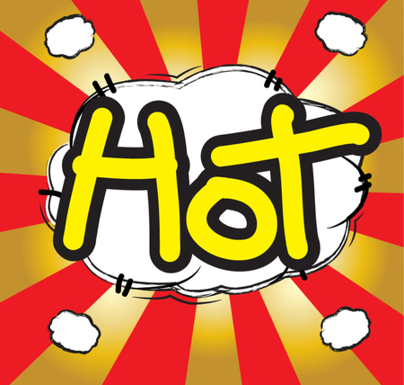 text comic hot Vector