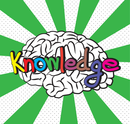 text comic knowledge Vector