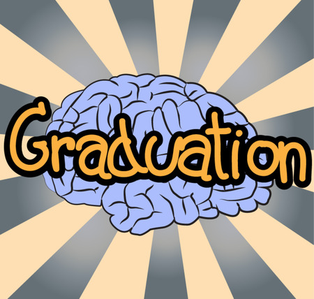 text comic graduation Vector