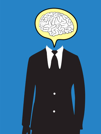 business man  speech  brain vector Vector