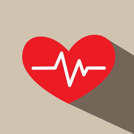 electrocardiograph: Heartbeat electrocardiograph vector icon Illustration