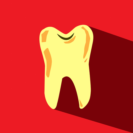 decayed tooth vector icon Vector