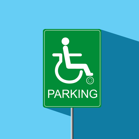 disable: disable parking sign vector icon