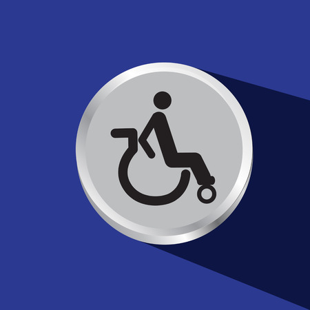 disable: disable sign vector icon Illustration