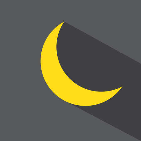 half full: moon vector icon