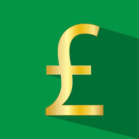 pounds: money Pounds vector icon Illustration