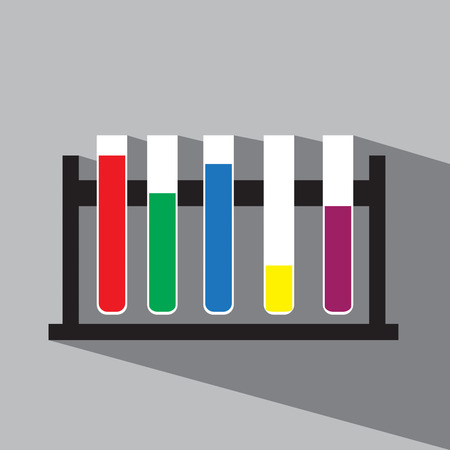in vitro: Science vitro vector icon Illustration