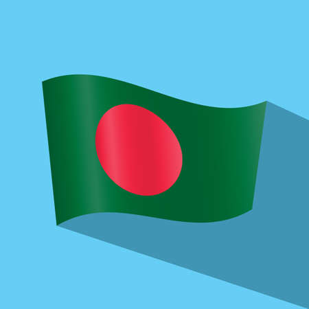 bangladesh: bangladesh flag vector icon Illustration