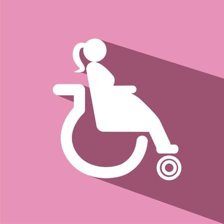 accident woman: Maternidad en silla de ruedas vector