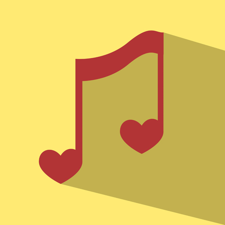 note music heart vector Vector