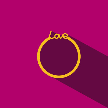 gold ring: gold ring love vector icon