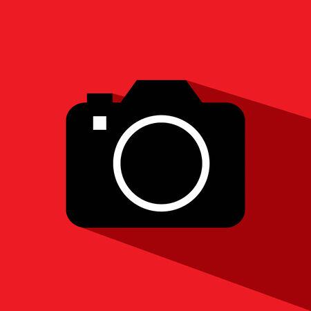 camera dslr vector icon Illustration