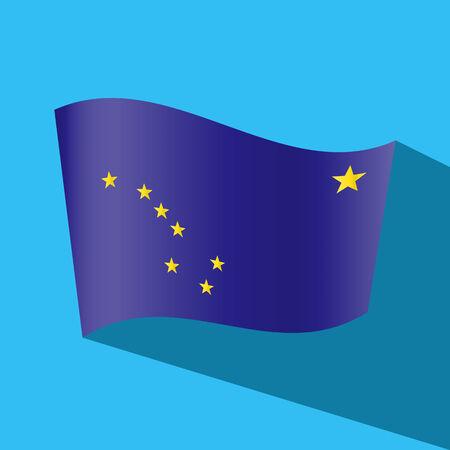 alaskabo: alaska flag vector icon