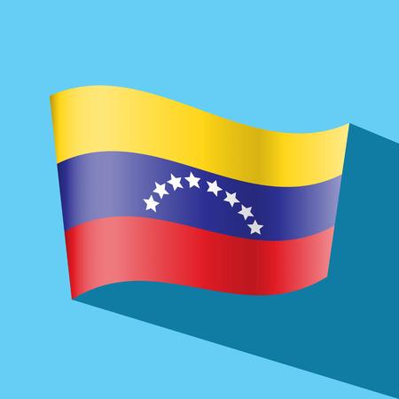 venezuelan: Venezuela icono de la bandera de vectores