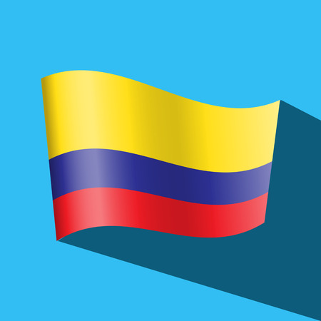 colombia flag vector icon Vector