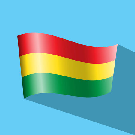 bandera de bolivia: Bolivia icono de la bandera de vectores Vectores