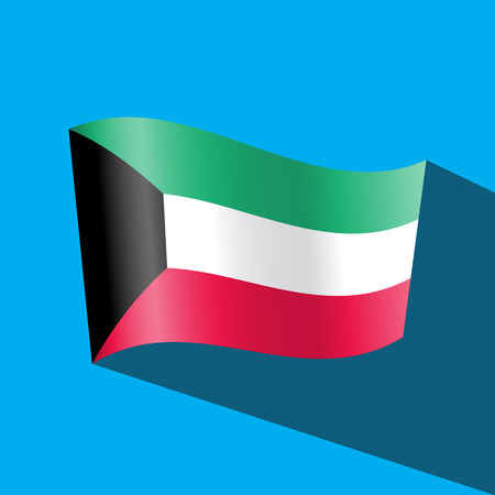 kuwait: kuwait flag Illustration