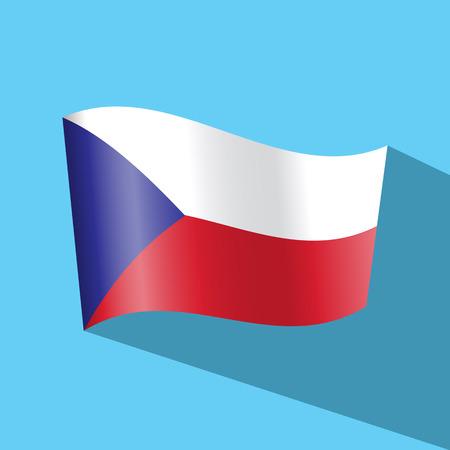 czech flag: ceco bandiera icona vetor