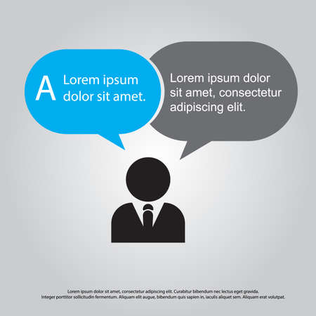 business man speech vector Vector