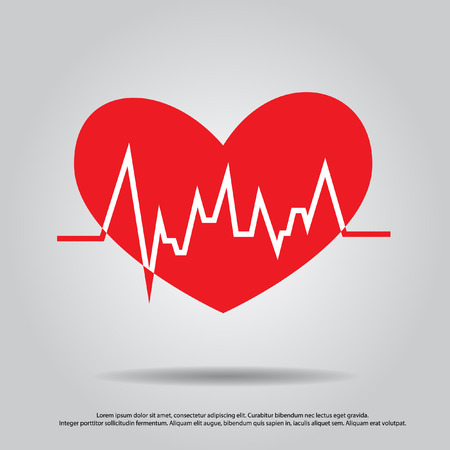 heart with pulse vector  Vector