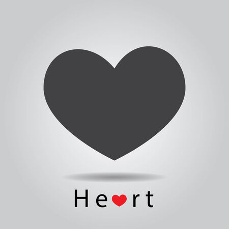 grey heart vector Vector
