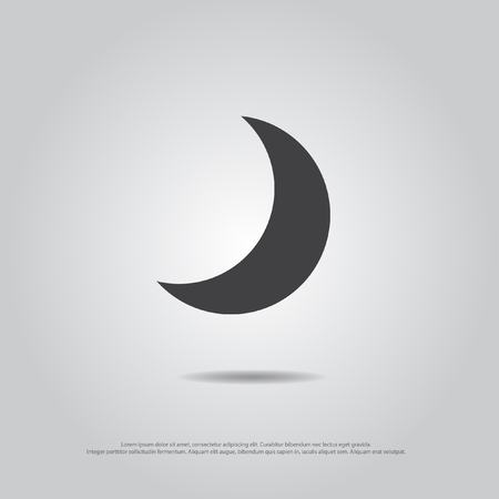 half moon: moon vector icon