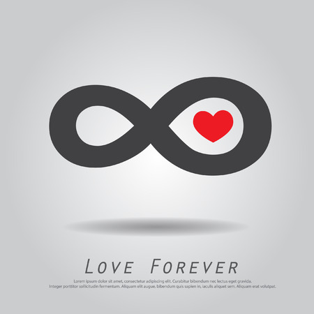 infinity heart love vector icon Vector
