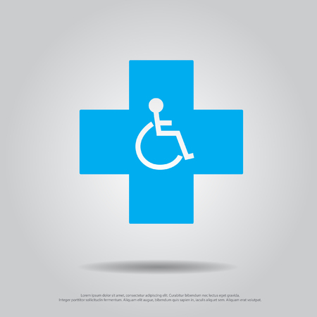 disable: disable in cross vector icon Illustration